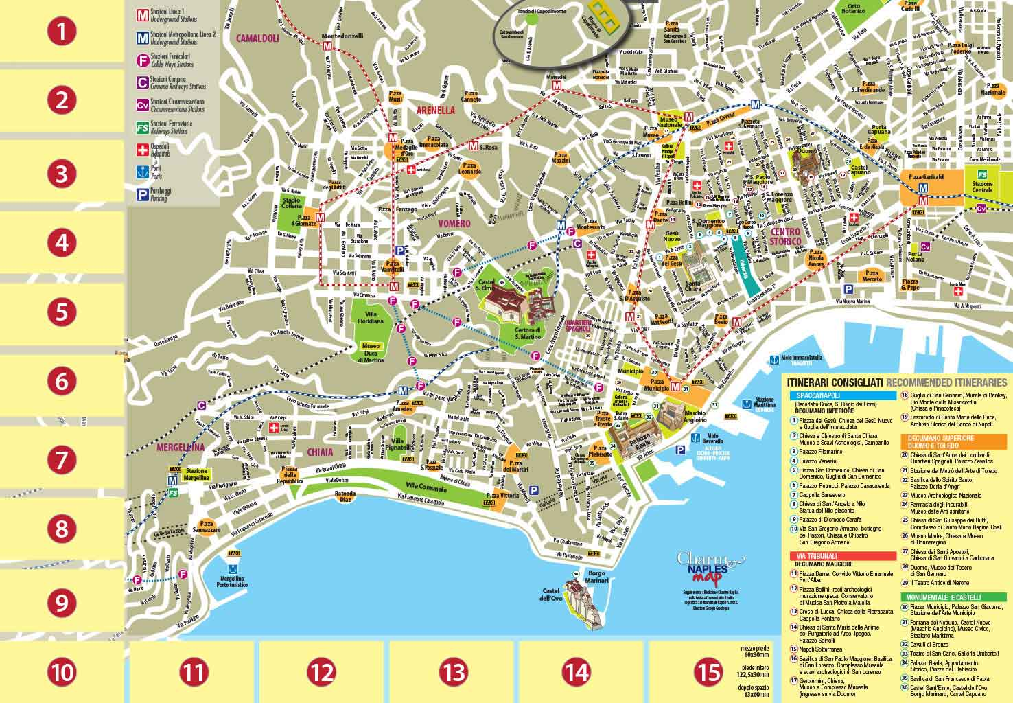 Cartina Monumenti Napoli.Napoli Cartina Turistica Pdf