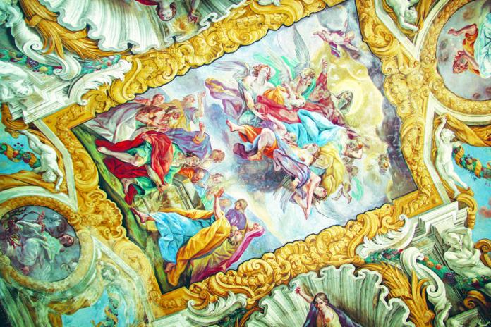 Cappella dei Bianchi della Giustizia Affreschi della volta. Giovan Battista Benaschi Assunzione della Vergine