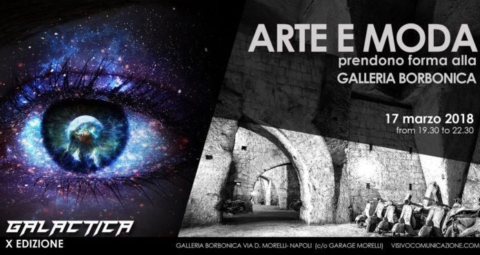 La locandina della decima edizione di Arte e Moda alla Galleria Borbonica