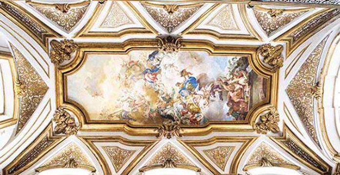 Sacrestia-volta-affresco-Solimena-San-Domenico-Maggiore-Napoli