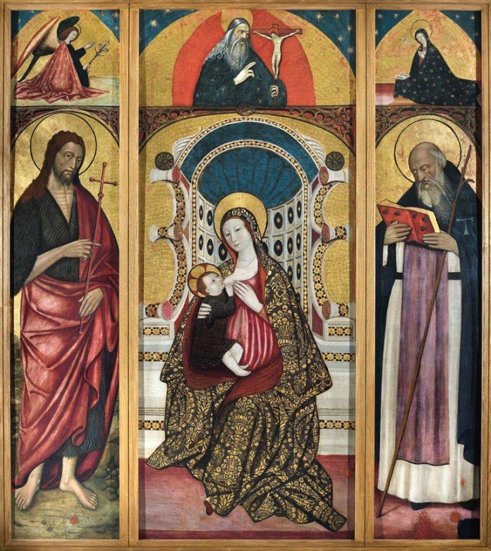 Il Trittico restaurato di Angiolillo Arcuccio tonrato esposto dopo anni al Museo Doma San Domenico Maggiore a Napoli
